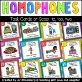 Homophone Scoot or Task Cards: To, Too, Two