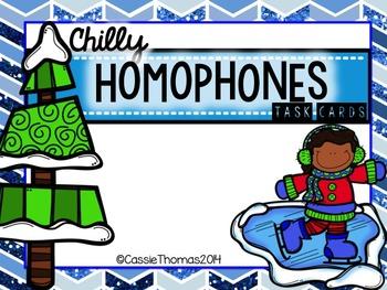 Homophone Task Cards {Winter Theme}