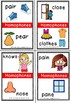Homophone flashcards plus clip cards to match.