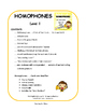 Homophones | PRACTICE and REVIEW |TASK CARDS | Early Finis
