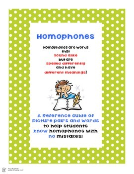 Homophones - A Picture Guide