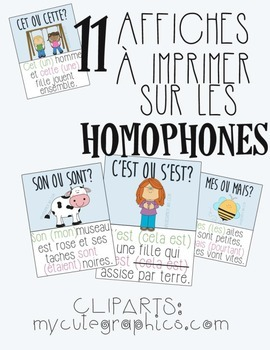 Homophones - Affiches