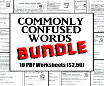 Homophones Bundle: Commonly Confused Words Series