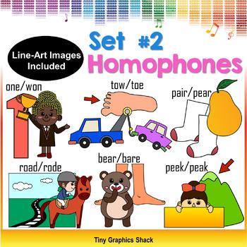 Homophones Clipart Set 2