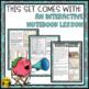 Homophones & Homographs- Interactive Notebook Lesson, Task