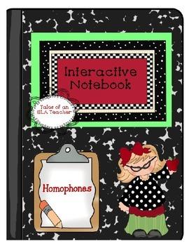 Homophones ~ Interactive Notebook
