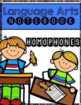 Homophones Language Arts Notebook