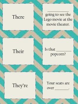 Homophones Matching Cards