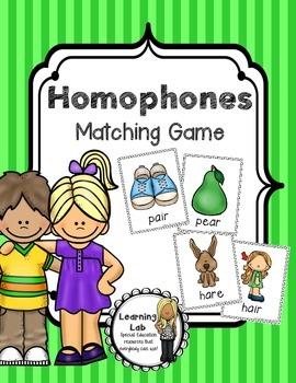 Homophones Matching Game