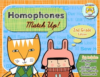 Homophones Matching Game