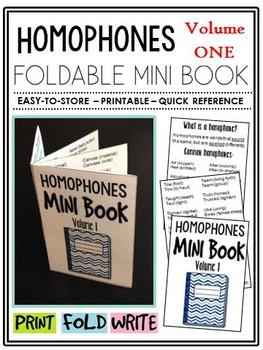Homophones Mini-Book (A Perfect Addition to an ELA Interac