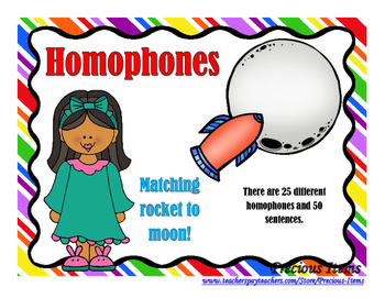 Homophones - Moon and Rockets