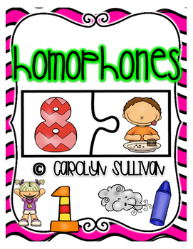 Homophones Puzzle Match Cards