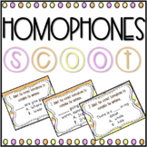 Homophones SCOOT! Game, Task Cards or Assessment