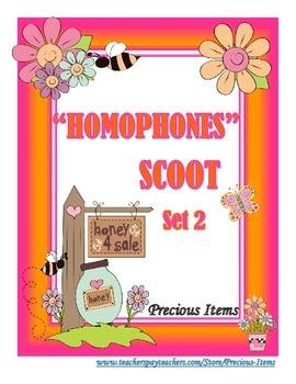 Homophones Scoot - Set 2