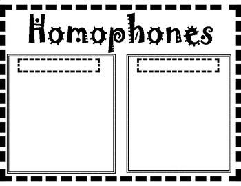 Homophones Sentence Illustrations