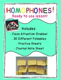 Homophones for 3-4th graders with ATTENTION Grabber!