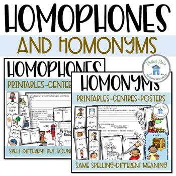 Homophones or Homonyms?