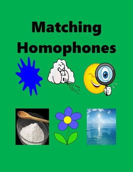 Homophones or Words that Sound Alike as a Handout or in Mi