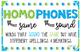 Homphones Anchor Chart - Freebie!