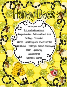Honey Bee Complete Unit 3rd-5th grades