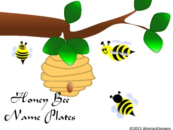 Honey Bee Name Plates