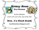 Honey Bees Fry Phrases Reading Street
