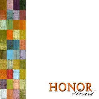 Honor Award Template