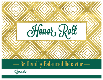 Honor Roll Certifcate
