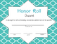 Honor Roll Certificates
