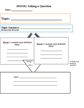 Hook Graphic Organizer