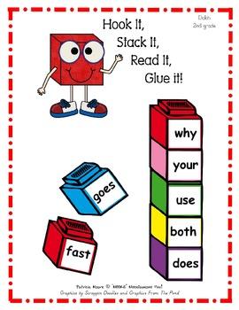 Hook It, Stack It, Read It, Glue It!   Dolch 2nd Grade