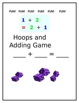 Hoops and Adding Fun Math Game