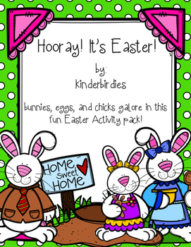 Hooray! It's Easter! Literacy and Math Activity Pack