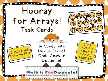 Hooray for Arrays Task Cards - Multiplication Practice wit