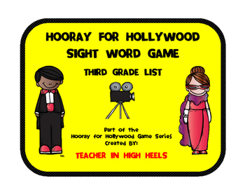 Hooray for Hollywood Game: Third Grade Sight Words