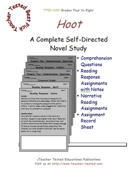 Hoot: A Complete Novel Study