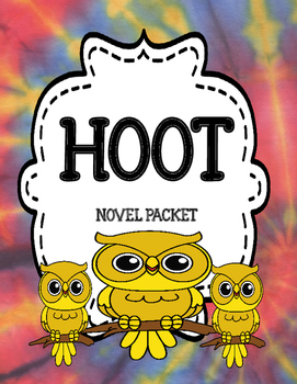 Hoot by Carl Hiaasen Novel Study Unit Comprehension and Vo