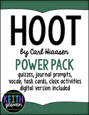 Hoot Power Pack:  Quizzes, Prompts, Vocab, Task Cards, Clo