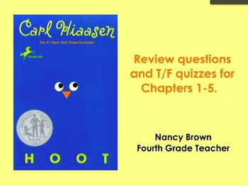 Hoot by Carl Hiassen Chapter 1-5 Flipchart
