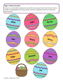 Hop Along with Language - Easter