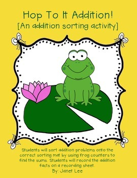 Hop To It Addition {An Addition Sorting Activity}