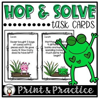Hop and Solve! Word Problem Task Cards