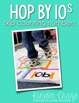 Hop by 10s Skip Counting Numbers