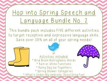 Hop into Spring Speech and Language Bundle No. 2
