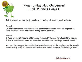 Hop on Leaves Fall Phonics Game