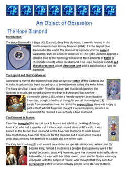 Hope Diamond - An Object of Obsession - Information Report