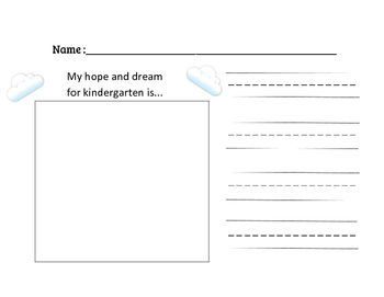 Hopes and Dreams For Primary Age Students (K-2)