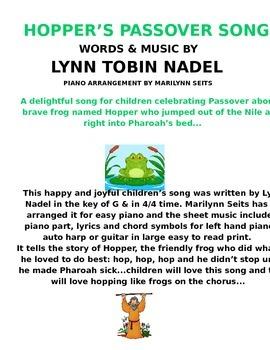 Hopper's Passover Song for children - easy piano w/ lyrics