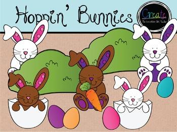 Hoppin' Bunnies - Digital Clipart